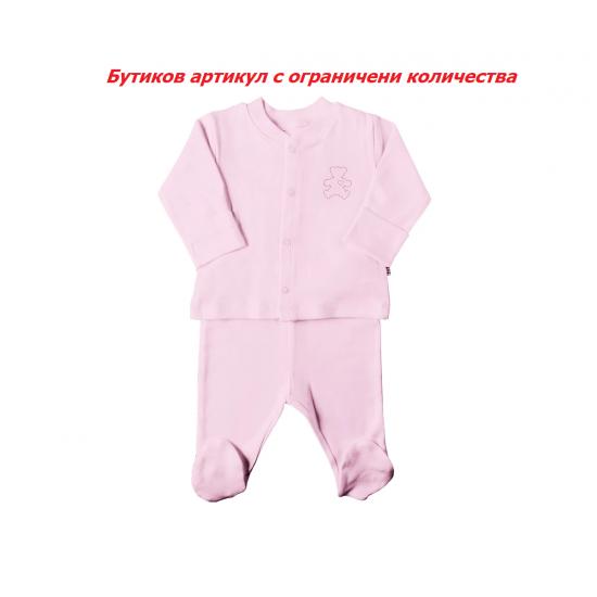 Бебешка пижама от 2 части Kitikate, момиче, розова, ръст: 56, 1-3 м.