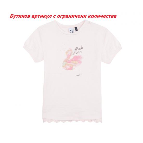 Тениска 3Pommes Lovely Flower, момиче, 3-4 г., ръст: 104 см.