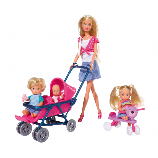Кукла Еви Лав - Стефи с 3 бебета