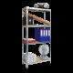 Метален стелаж LIRA 138x70x30 см, до 50 кг на рафт - цинк