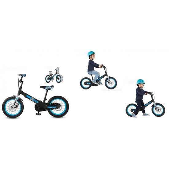Разтегаем Велосипед smarTrike Xtend Mg+™ 3-в-1 - черен/син