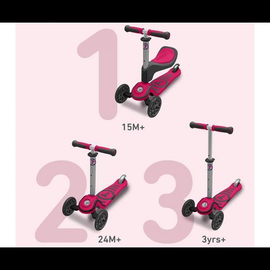 Детски скутер smarTrike Т1, розов