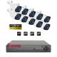 Full HD комплект с 10 IR камери и DVR за видеонаблюдение